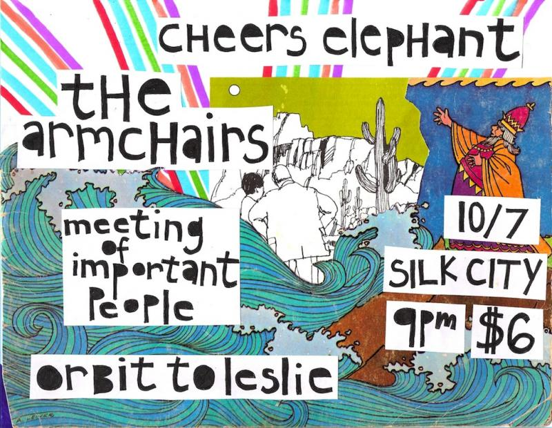 Cheers Elephant with The Armchairs, Meeting of Important People, and Orbit to Le