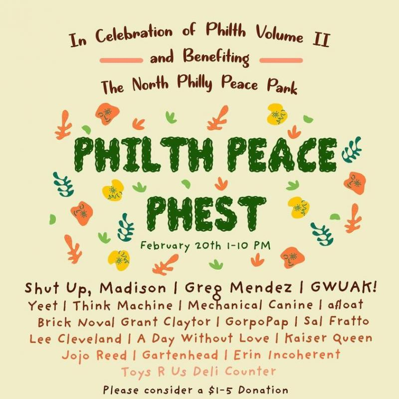 Full day online fest organised by Philth Zine to benefit the North Philly Peace