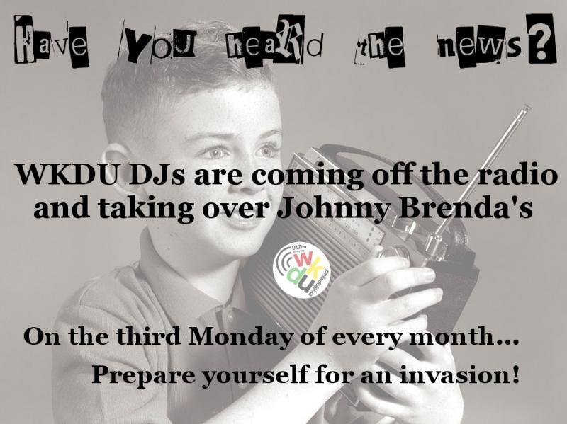 WKDU Takeover with DJ Dewey Decimal & DJ Alina