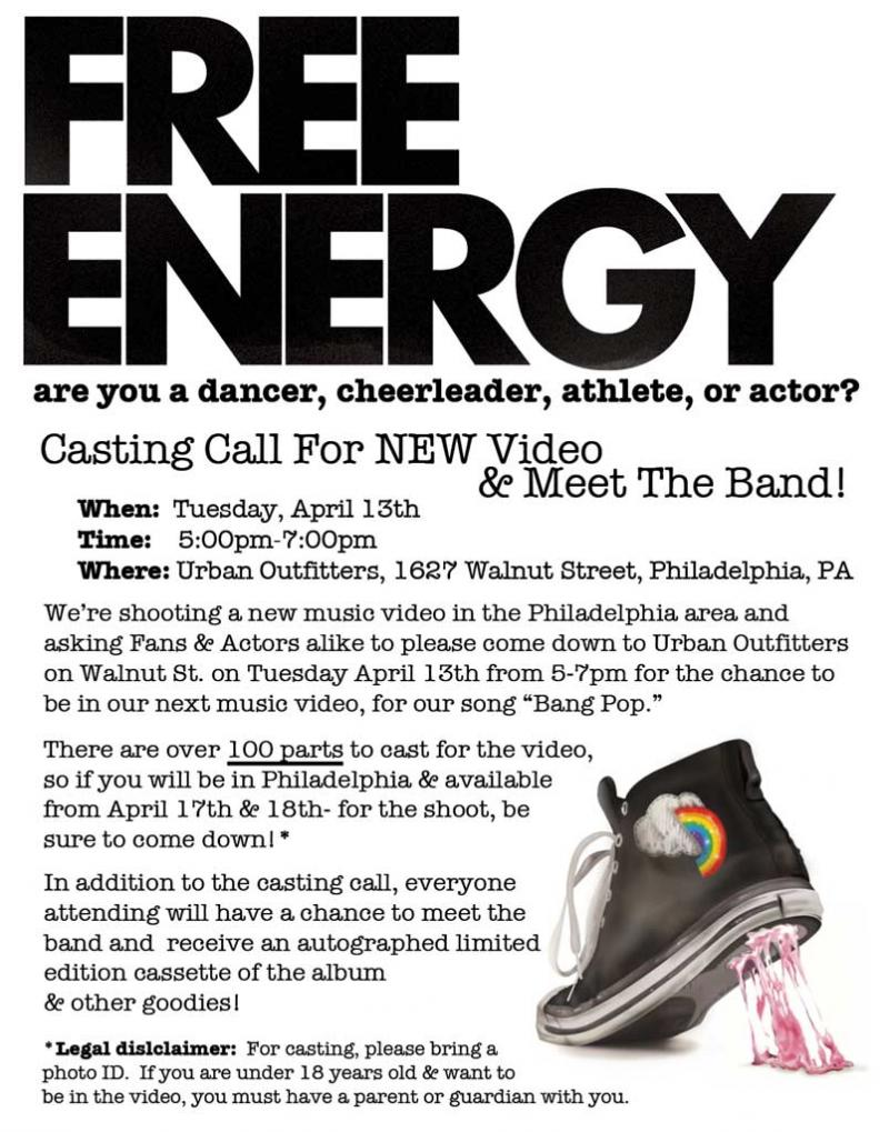 Free Energy Cast Flyer