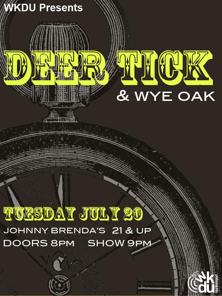 WKDU Presents Deer Tick with Wye Oak