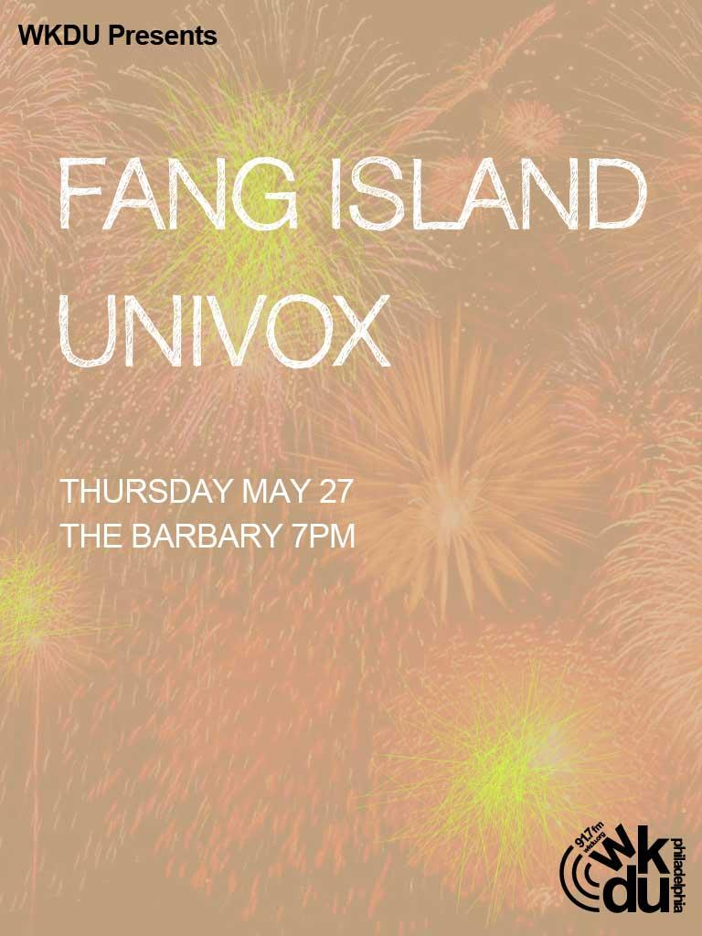 WKDU Presents Fang Island and UNIVOX